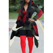 Lovely Casual Hooded Collar Camouflage Printed  Re