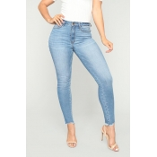 Lovely Casual Skinny Sky Blue Jeans