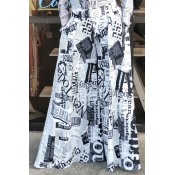 Lovely Casual Letter Printed Loose Multicolor Pant