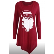 Lovely Christmas Day Printed Red T-shirt