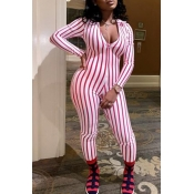 Lovely Trendy Striped Pink One-piece Jumpsuit