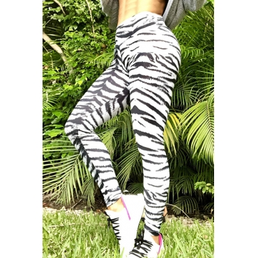 Lovely Sportswear Skinny Printed White Leggings