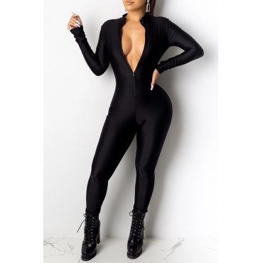 Lovely Sexy Skinny Black One-piece Jumpsuit