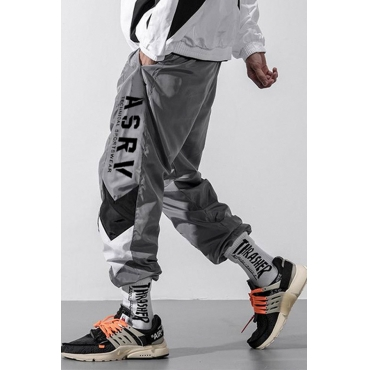 Lovely Street Patchwork Grey Pants
