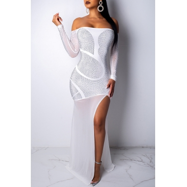 Lovely Trendy Asymmetrical White Floor Length Dress