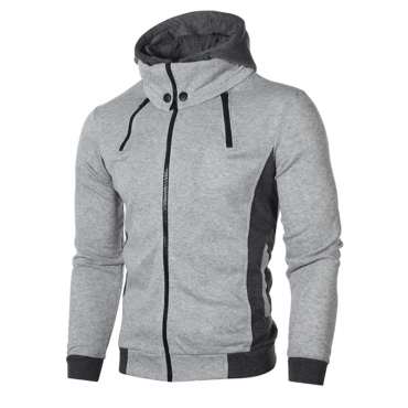 Lovely Casual Hooded Collar Light Grey Hoodie