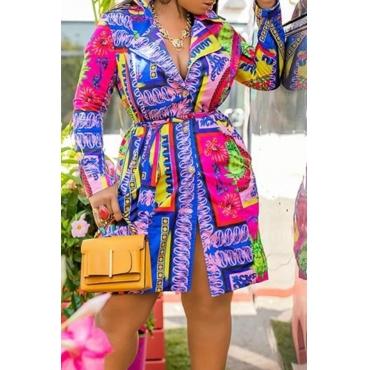 Lovely Leisure Printed Multicolor Mini Dress