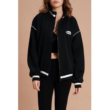Lovely Trendy  Long Sleeves Black Jacket