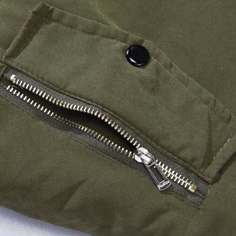 Lovely Casual Drawstring Army Green Cotton-padded Clothe