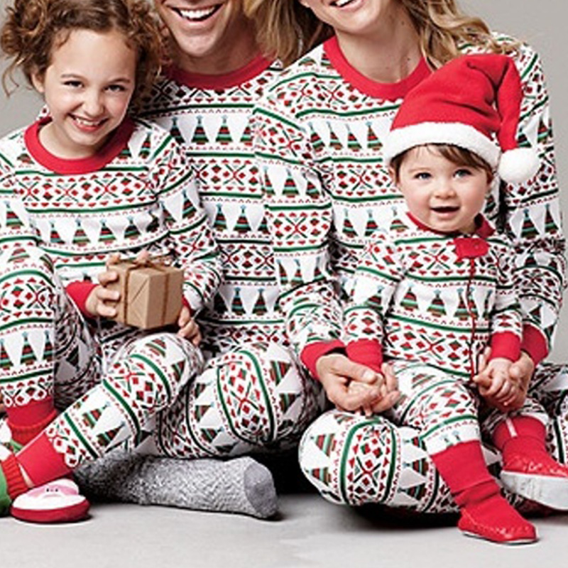 Lovely Family Printed White Girls Two-piece Pants Set