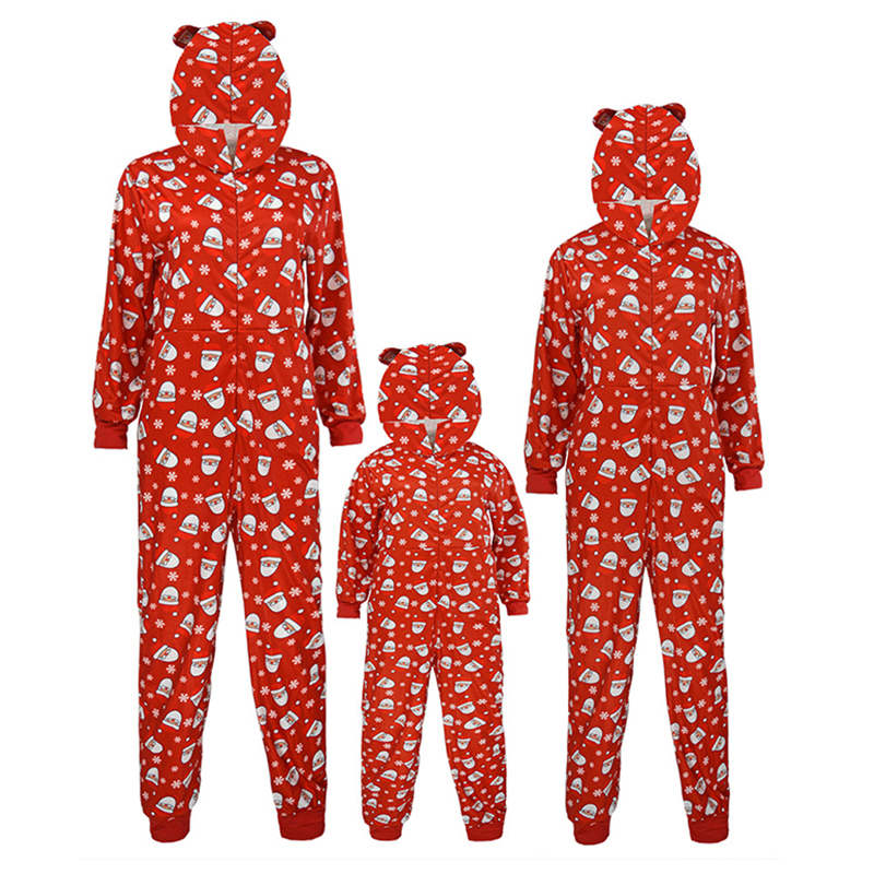 Lovely Family Printed Red Kids One-piece Jumpsuit