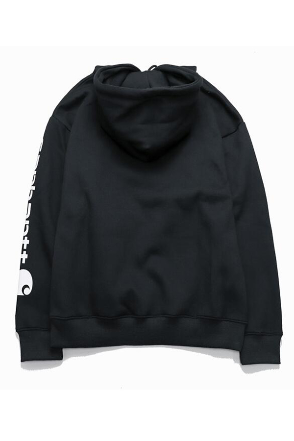 Lovely Casual Hooded Collar Letter Black Hoodie