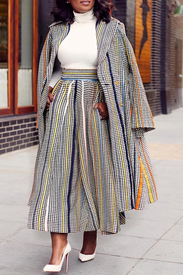 Lovely Casual Printed Loose Multicolor Two-piece Pants Set