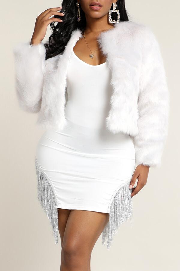Lovely Trendy Basic Grey Teddy Coat