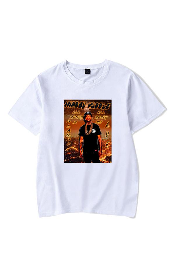 Lovely Trendy Printed White T-shirt