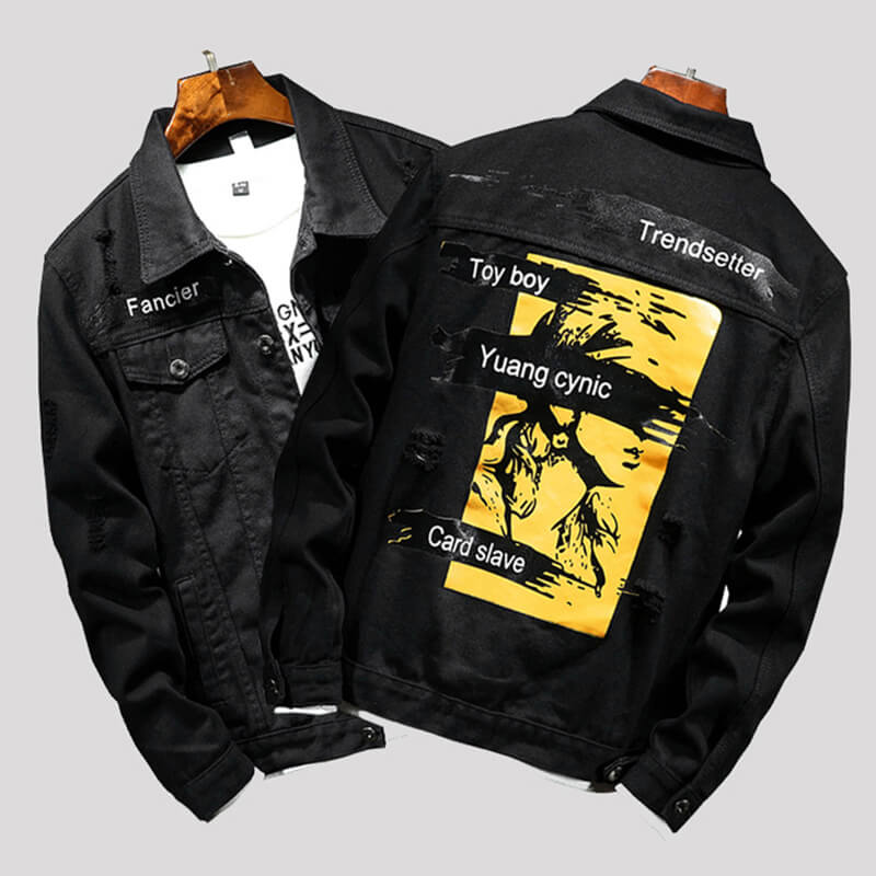 Lovely Casual Print Black Cowboy Wear