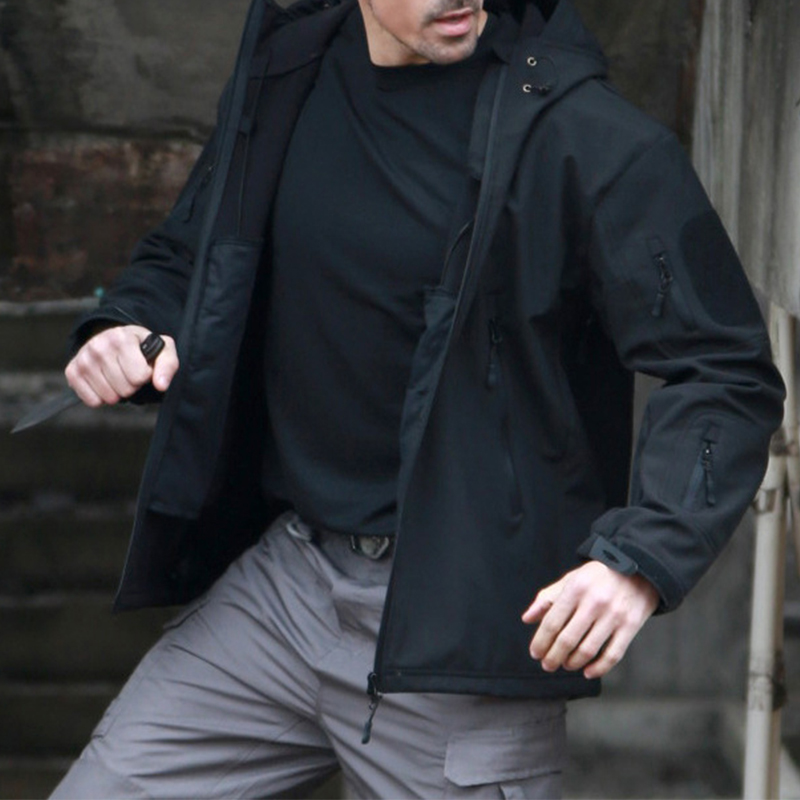 lovelywholesale / Cheap Jacket Lovely Casual Camo Print Black Coat