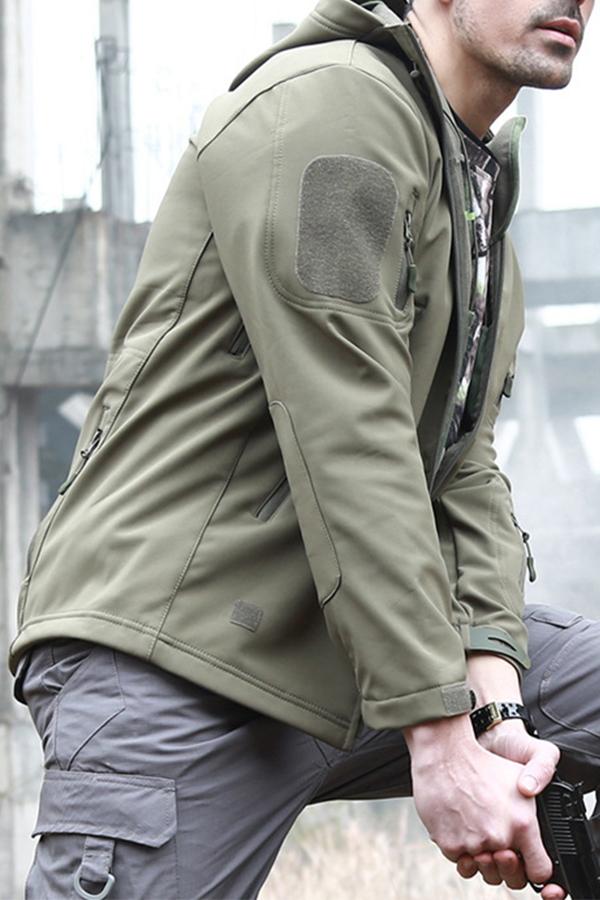 lovelywholesale / Cheap Jacket Lovely Casual Camo Print Green Coat