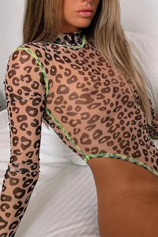 Lovely Leopard High-Leg One-piece Swimsuit