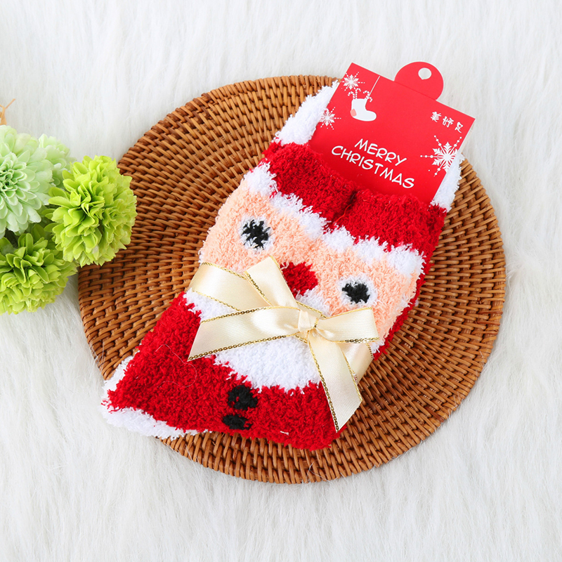 Lovely Casual Santa Claus Red Socks