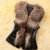 Lovely Casual V Neck Patchwork Brown Vests
