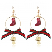 Lovely Christmas Day Bow-Tie Red Earring