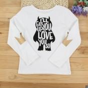 Lovely Family Printed White Kids T-shirt