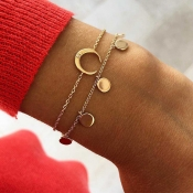 Lovely Trendy Layered Gold Bracelet