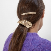 Lovely Trendy Gold Metal Hairpin