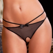 Lovely Sexy Hollow-out Black Panties