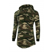 Lovely Casual Camouflage Printed Hoodie
