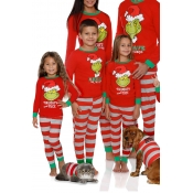 Lovely Family Santa Claus Striped Red Mother Two-p