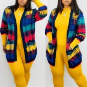 Lovely Casual Printed Multicolor Cardigan