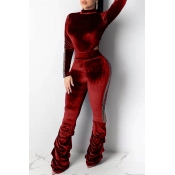 Lovely Trendy Hollow-out Red Two-piece Pants Set