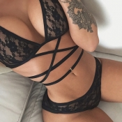 Lovely Sexy See-through Black Bra Sets