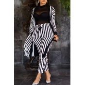 Lovely Party Striped Two-piece Pants Set(Without L