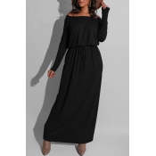 Lovely Casual Loose Black Ankle Length  Dress