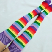 Lovely Leisure Striped Multicolor Socks