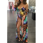 Lovely Print Hollow-out Green One-piece Swimsuit(W