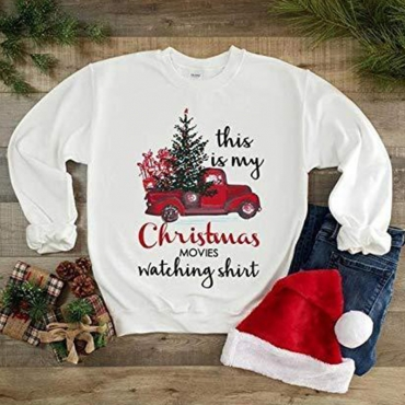 Lovely Christmas Day Printed White Hoodie