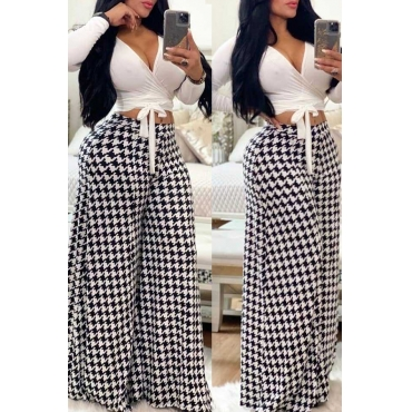 Lovely Casual Printed Loose White Pants