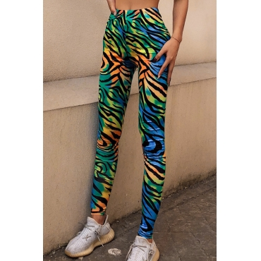 Lovely Casual Printed Multicolor Leggings