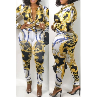 Lovely Party Printed Multicolor Two-piece Pants Set
