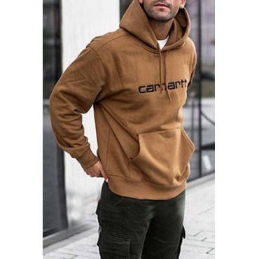 Lovely Casual Hooded Collar Coffe Hoodie
