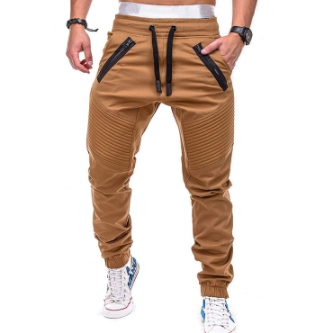 Lovely Casual Lace-up Khaki Pants