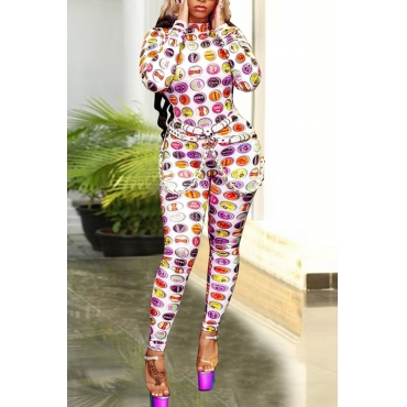 Lovely Trendy Printed Skinny Multicolor One-piece Jumpsuit