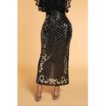 Lovely Casual Plaid Black Ankle Length Skirt