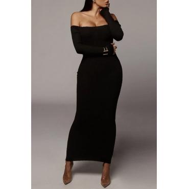 Lovely Trendy Skinny Black Ankle Length Dress
