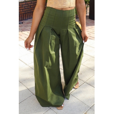 Lovely Leisure Loose Green Pants