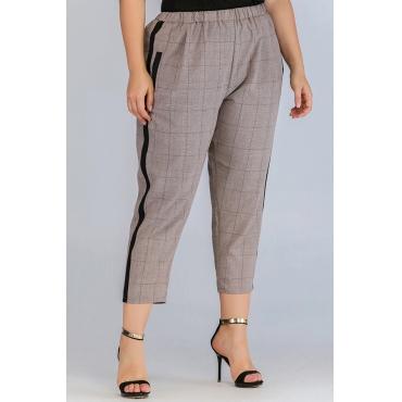 Lovely Casual Print Khaki Plus Size Pants